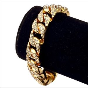 Other - New 18 k yellow gold Cuban link bracelet